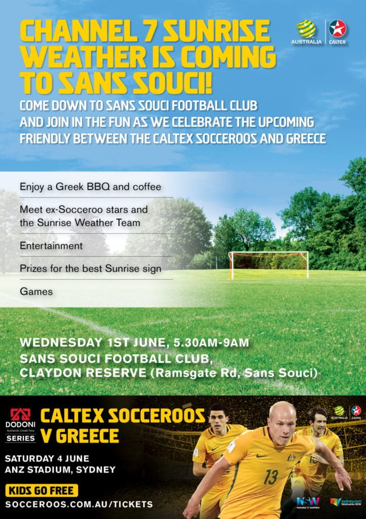 Socceroos v Greece Flyer